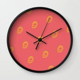 Jalebi Pattern- Coral Wall Clock