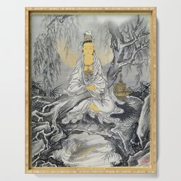Kawanabe Kyosai - White-robed Kannon - Digital Remastered Edition Serving Tray