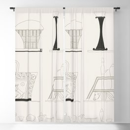 Baskets panies vases etc copied from the paintings or on the originals from Monuments de lEgypte et Blackout Curtain