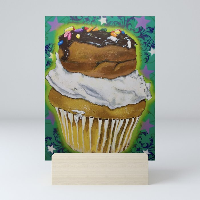 DonutCupcake Mini Art Print