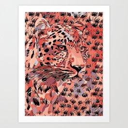 Leopard Abstract Art Print