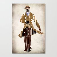 rorschach Canvas Prints featuring Rorschach by Ayse Deniz