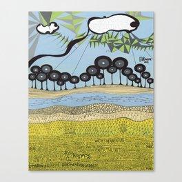 id escaped album artwork, ANALOG zine Canvas Print