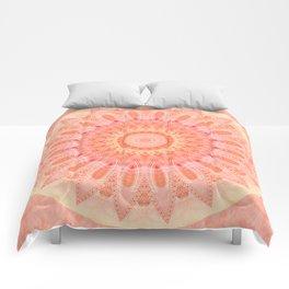 Mandala soft orange 2 Comforters
