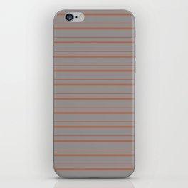 Cavern Clay Warm Terra Cotta SW 7701 Horizontal Line Patterns 3 on Slate Violet Gray iPhone Skin