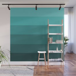 Winter Dark Teal - Color Therapy Wall Mural