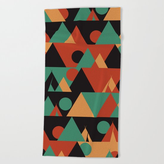 The sun phase Beach Towel