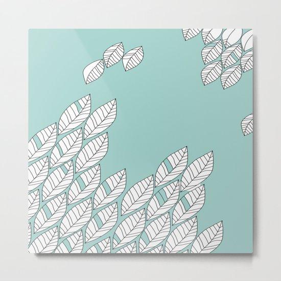 Leaves Stream 2 Metal Print