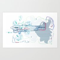 underwater Art Prints featuring Underwater by March Hunger
