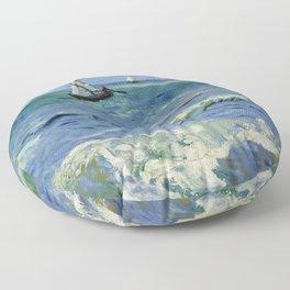 """Vincent Van Gogh """"The Sea at Les Saintes-Maries-de-la-Mer"""" Floor Pillow"""