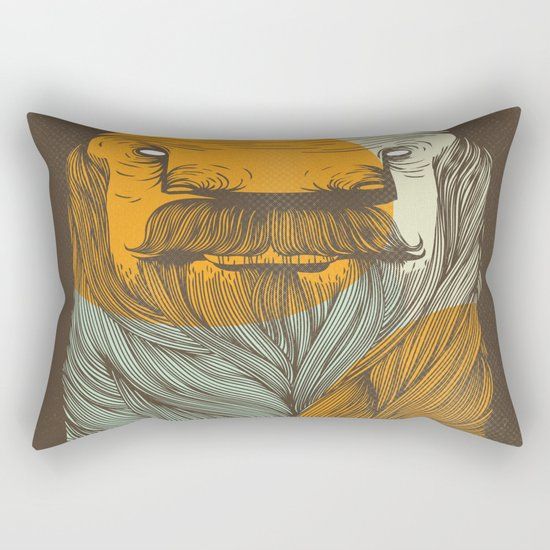 The Bearded Rectangular Pillow