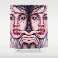 pool Shower Curtains featuring Pool Party by Laura O'Connor