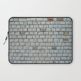 Wall of white bricks and other colors Laptop Sleeve