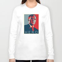 hero Long Sleeve T-shirts featuring Hero by Skylofts Merch