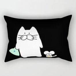 cat and mouse 223 Rectangular Pillow