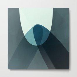 Summer Mid Century Modern organic Abstract zen_083 Metal Print