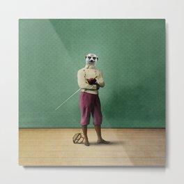 Milton Meerkat: Fencing Master Metal Print