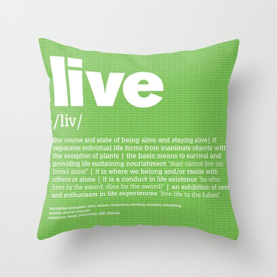 definition LLL - Live Throw Pillow