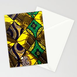 Groovy Mardi Gras African Print Stationery Cards