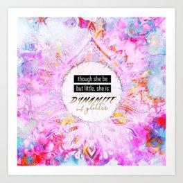 Watercolor Pastel Boho Dynamite and Glitter Art Print
