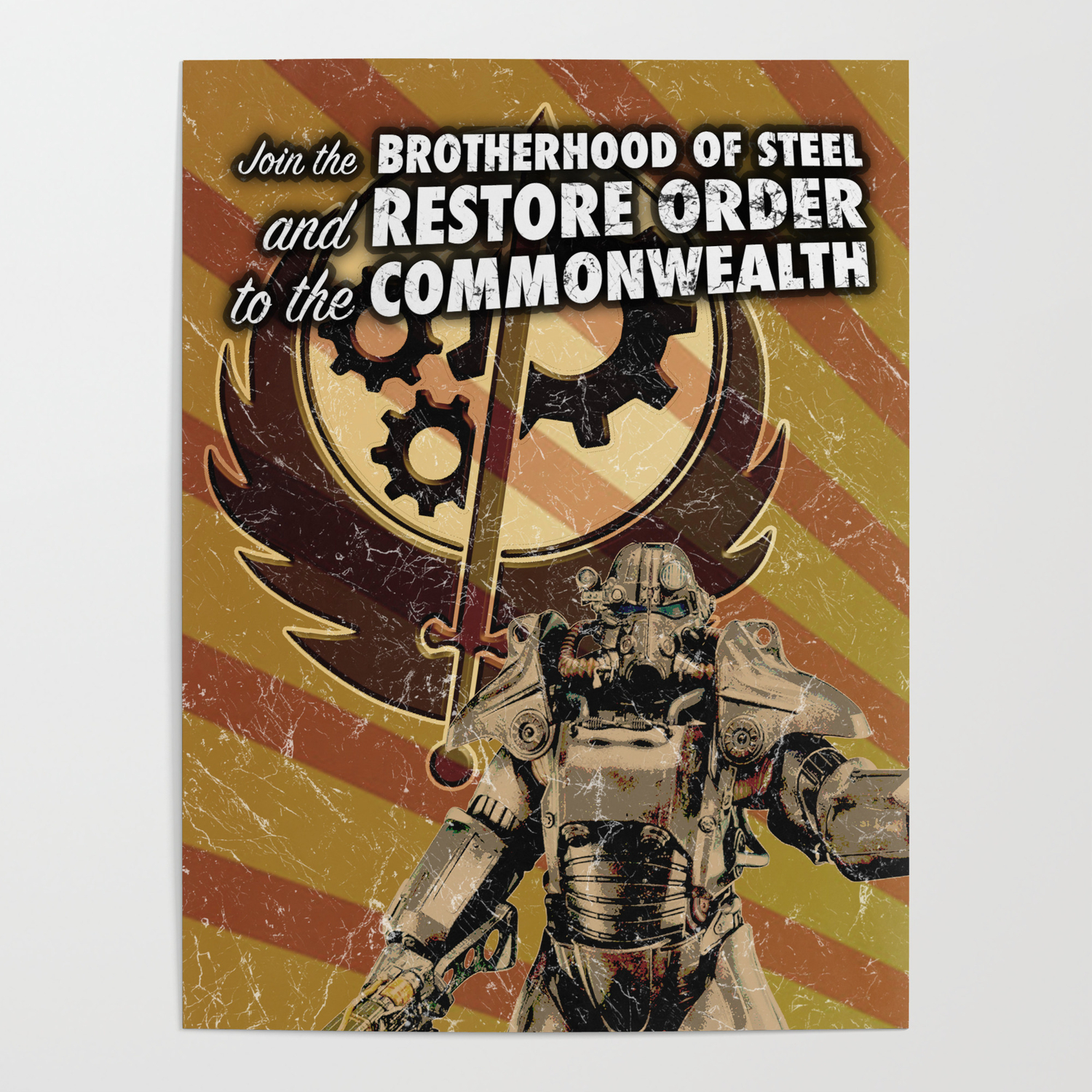 Fallout 4 Brotherhood Of Steel Recruitment Flyer Poster By Glyphz Society6