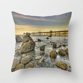 A Rocky Sunset Throw Pillow