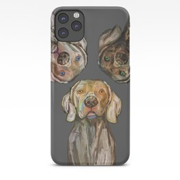 Triple Hunting Dogs in Dark iPhone Case
