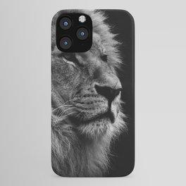 Black Print Lion iPhone Case