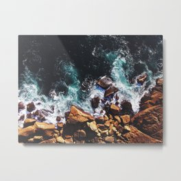 Rocks of Fire Metal Print