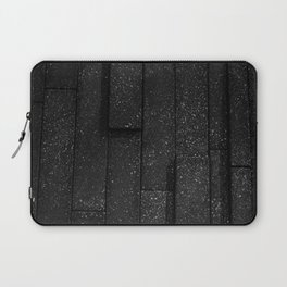 white speckled contrasted bricks - black and white Laptop Sleeve