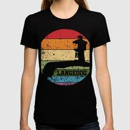 Retro Langeoog Water Tower T-Shirt Tourist Tee T-shirt