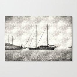 Vintage Schooner Canvas Print