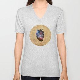 Cosmic Heart Unisex V-Neck