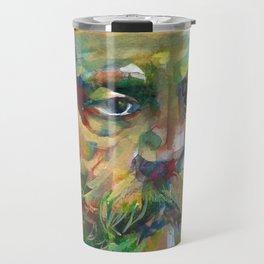 SIGMUND FREUD - watercolor portrait.2 Travel Mug