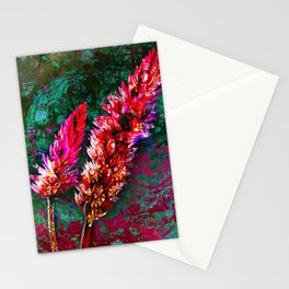 359 15 Abstract Pink Cattails Stationery Cards