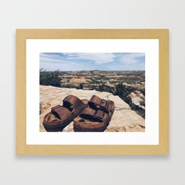A Step in the Right Direction (aka Theodore Roosevelt NP) Framed Art Print