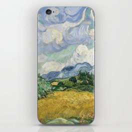 Wheat Field with Cypresses by Vincent van Gogh iPhone Skin