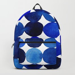 Blue Circles in Watercolor Backpack