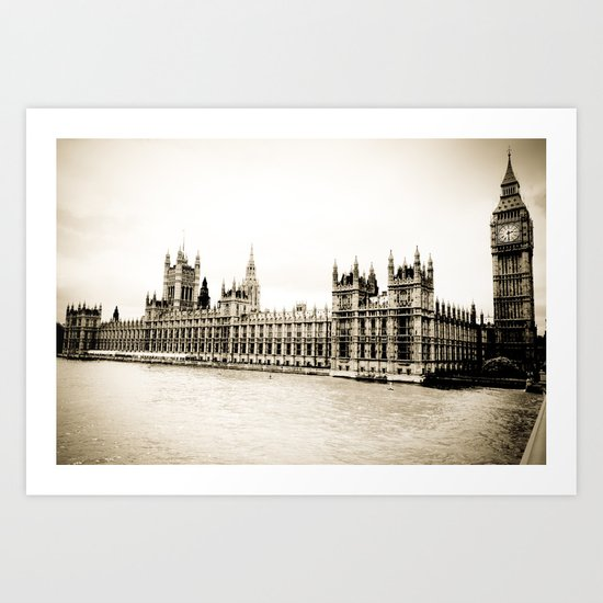 Big Ben and the Houses of Parliament  Art Print