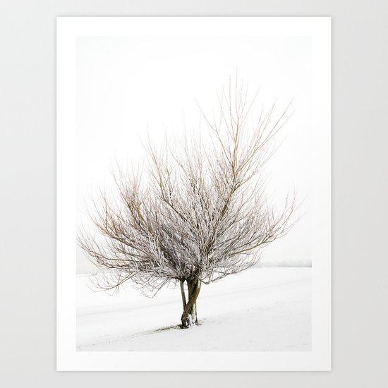 Magic Winter Tree Art Print