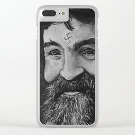 Charlie Manson (RIP) Clear iPhone Case