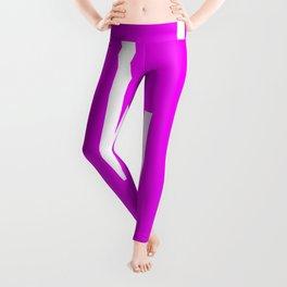 Abstract Retro Stripes Pinky Leggings
