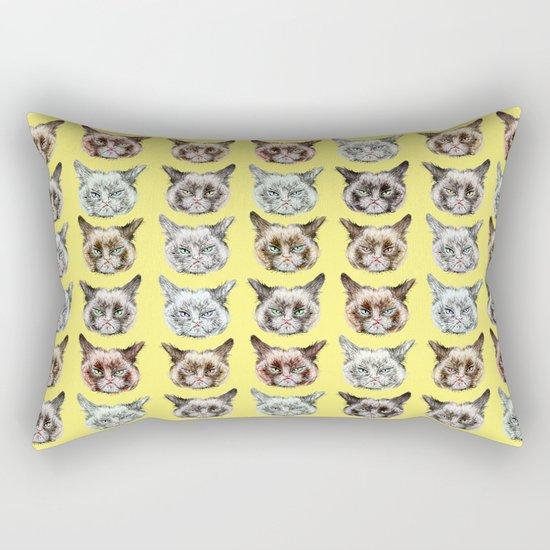 Cats Cats Cats on Yellow Rectangular Pillow