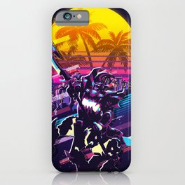 Hecarim league of legends game 80s palm vintage iPhone Case