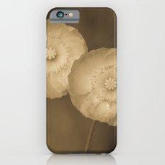 Twins -- Sepia Poppy Flowers Slim Case iPhone 6s