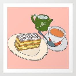 Aftenoon Cake Treat Art Print