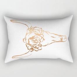 Copper Beast Head Rectangular Pillow
