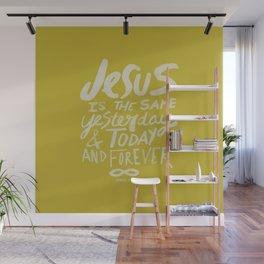 Hebrews 13: 8 x Mustard Wall Mural