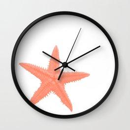 Coral Starfish Wall Clock