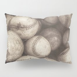 Bucket of Old Baseballs in Sepia Pillow Sham